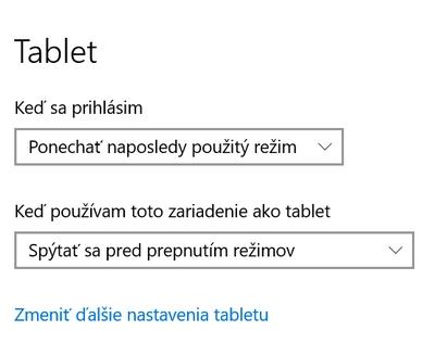 automaticky rezim tablet
