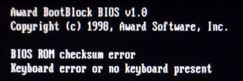 bios rom checksum error