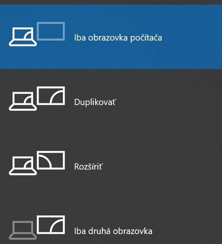 prepnutie obrazovky win p